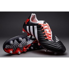 adidas Predator Incurza TRX SG Rugby Football Boots - Black/White/Infra Red