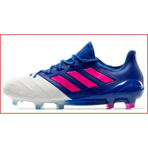 Adidas Ace 17.1 Leather FG Football Boots Blue Shock Pink White b38457e9c162